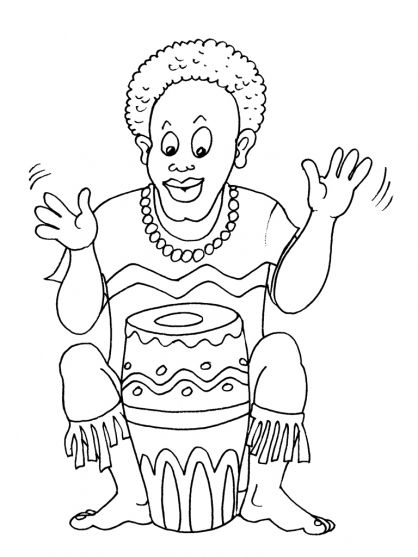 africa coloring pages preschool - photo#5