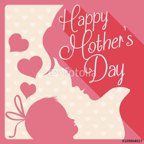 Gift Card with Mother's Day Scene Design