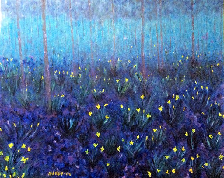 Los colores de la noche. Oleo sobre lienzo 81x100 cm.