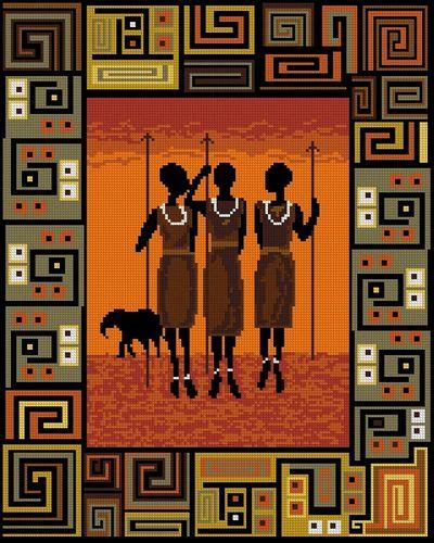 cross stitch african - Google Search