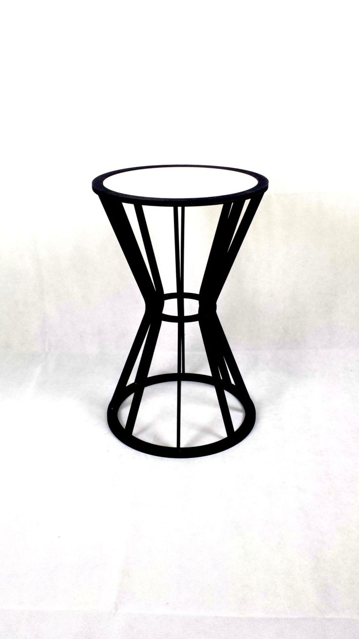 Small Table Side Table Contemporary Bedside Table Drum Table Laser Cut Table Acrylic Glass Top Table