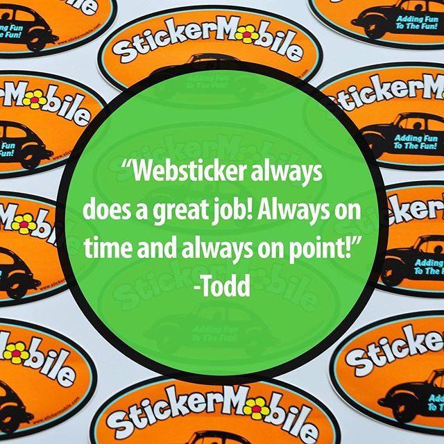 Thanks todd 👌💚 trustpilottuesday trustpilot reviews customerservice · label stickersdecalsmeettagsstickerdecal