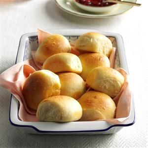 Soft Buttermilk Dinner Rolls Recipe -Warm, buttery dinner rolls are absolutely irresistible. I save time and use a stand mixer to make my dough. —Jennifer Patterson, Shoshone, Idaho