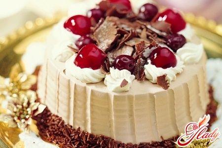 Торт вишнево шоколадный сладкий мир