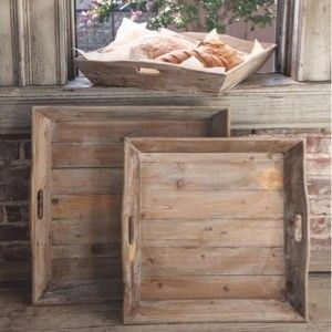 Wooden Trays To Decorate Endearing 210 Best Trays Images On Pinterest  Antique Farmhouse Furniture Review
