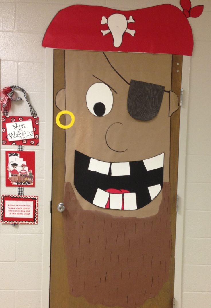 Cartoon classroom door - Pirate Entrance Door
