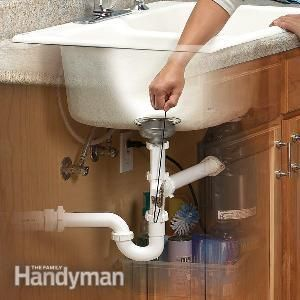 Make Photo Gallery Kitchen sink clogs uusually caused by grease or overworked garbage disposers can be easily removed