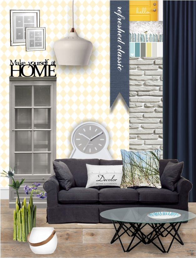 Inspiracje dla pięknego domu: kolaż z produktami ze sklepu Decolor.pl; autor: Alicja Żółtańska