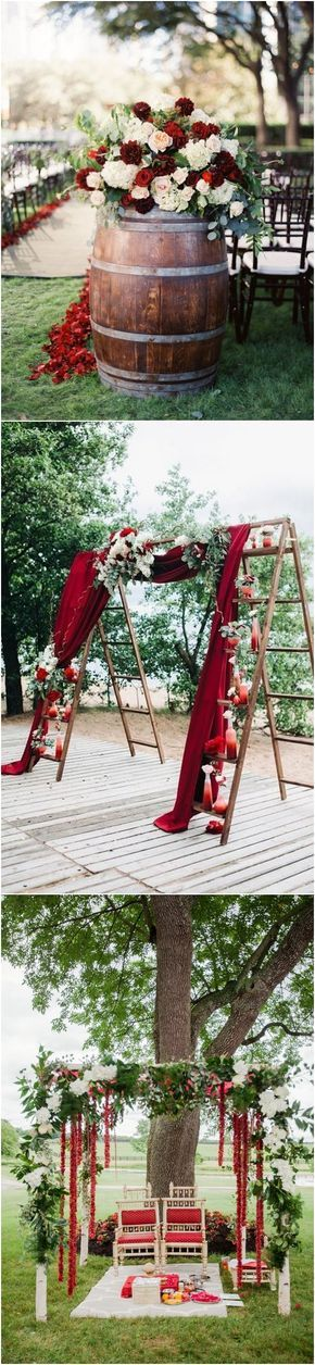 40 Fall Red Wedding Ideas We Actually Like / http://www.deerpearlflowers.com/fall-red-wedding-ideas/