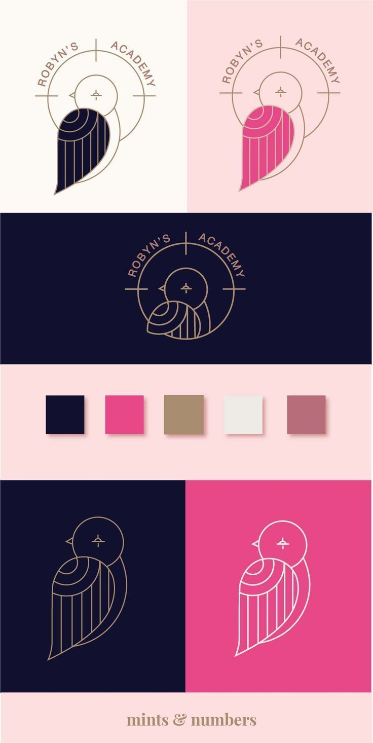 Brand design and model board for robyn's academy | Graphic design | Brand Variatio…