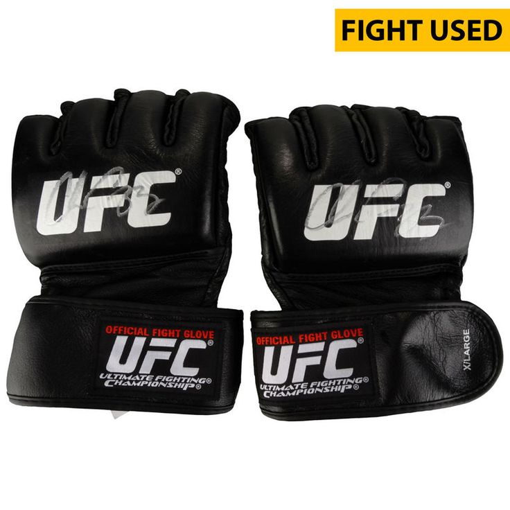 Chris Camozzi Ultimate Fighting Championship Fanatics Authentic Autographed UFC Fight Night: Cowboy vs. Cowboy Fight-Worn Gloves - Defeated Joe Riggs via First Round TKO