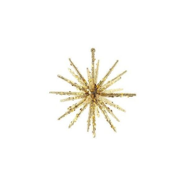 5.5 in. H x 5.5 in. W x 5.5 in. D Gold Snowflake (Set of 6... ($15) ❤ liked on Polyvore