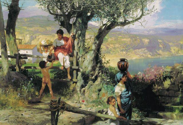 Ένα χωριό στην αρχαία Ρώμη (1880)