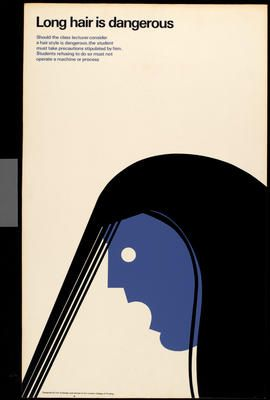 Eek! Tom Eckersley, Health and safety poster, 1990.