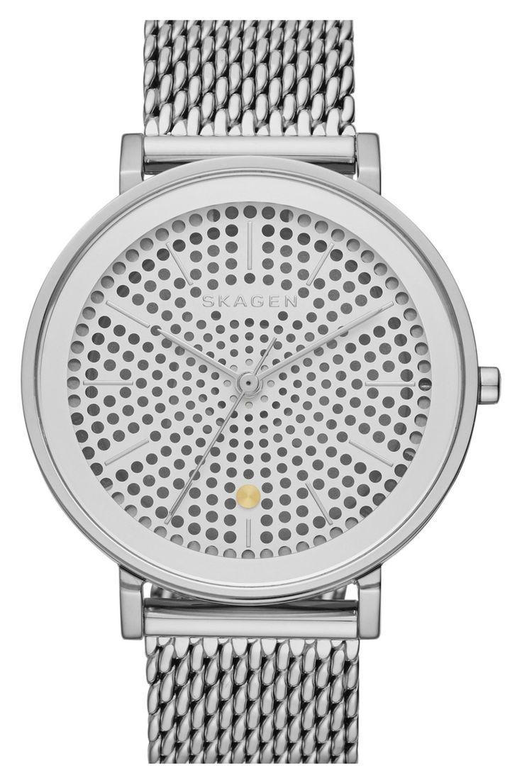 Hald Solar Powered Mesh Bracelet Watch by Skagen on @nordstrom_rack