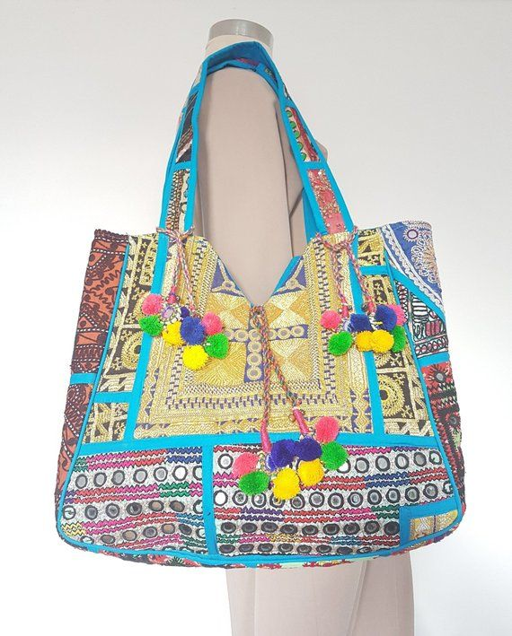 4b70a92952 ... Padma Artisan Embroidered Turkish Nomad Gypsy Hippie Indian Tribal  Ethnic Native Boho Shoulder Hobo Tote Handcrafted Bag