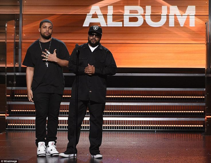 Street cred: The rapper won Best Rap Album in the first award announced during the live broadcast for To Pimp A Butterfly. The honor was bestowed upon him by rap legend Ice Cube and his son, who played the former NWA member in biopic Straight Outta Compton, O'Shea Jackson Jr
