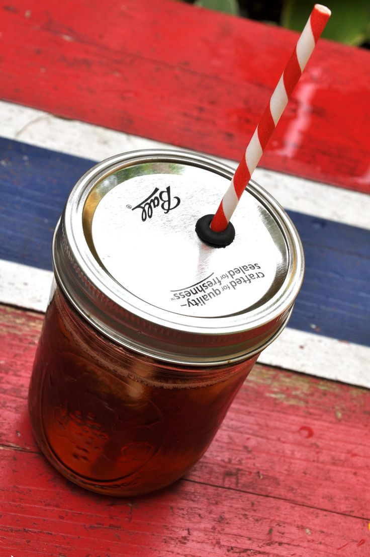 How to turn a mason jar into a spillproof cup with straw