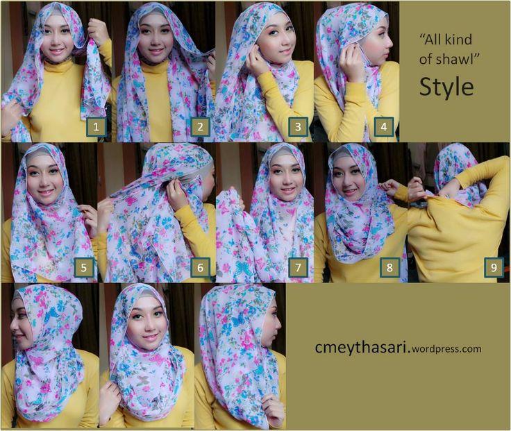 Tutorial Hijab Segi Empat Tanpa Ciput All kind of shawl