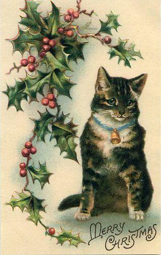 Vintage Christmas Card ~Liisa's Postcard Collection, via Flickr