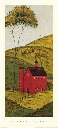 Country Panel II, Barn  by Warren Kimble