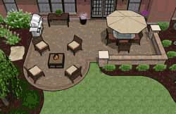 Patio Designs with Outdoor Fireplaces or Fire Pits | Patio Plans