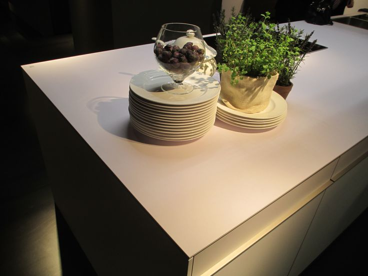 Kitchen top made of FENIX NTM.