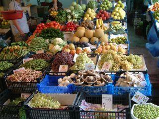 """""""Marktstand Iraklion"""" Bild Markt in Heraklion"""