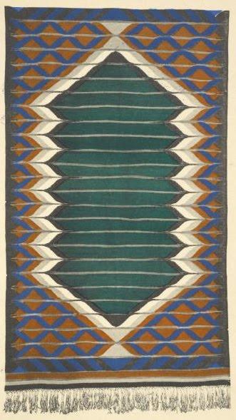 Jozef Czajkowski. Rug design, 1925. Via Design Decoration Craft