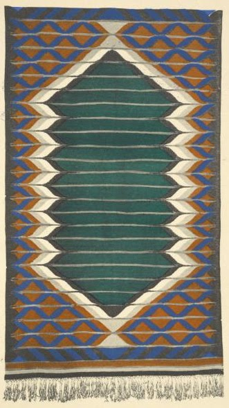 Jozef Czajkowski. Rug design, 1925. Via Design Decoration Craft