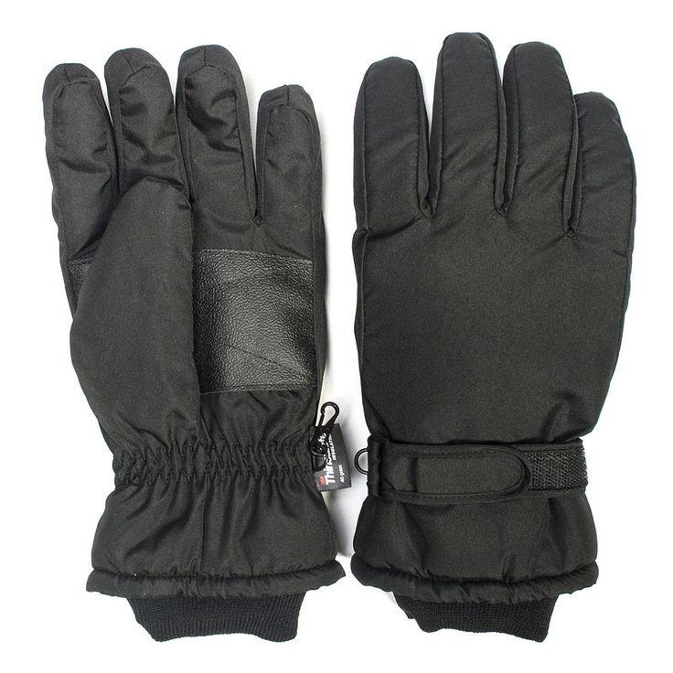 QuietWear Thinsulate Gloves - Men, Black
