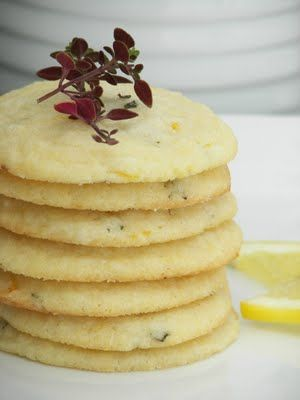 lemon thyme cookies - Pinned by The Mystic's Emporium on Etsy