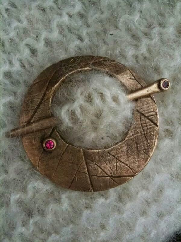 Ruby Bronze shawl pin!