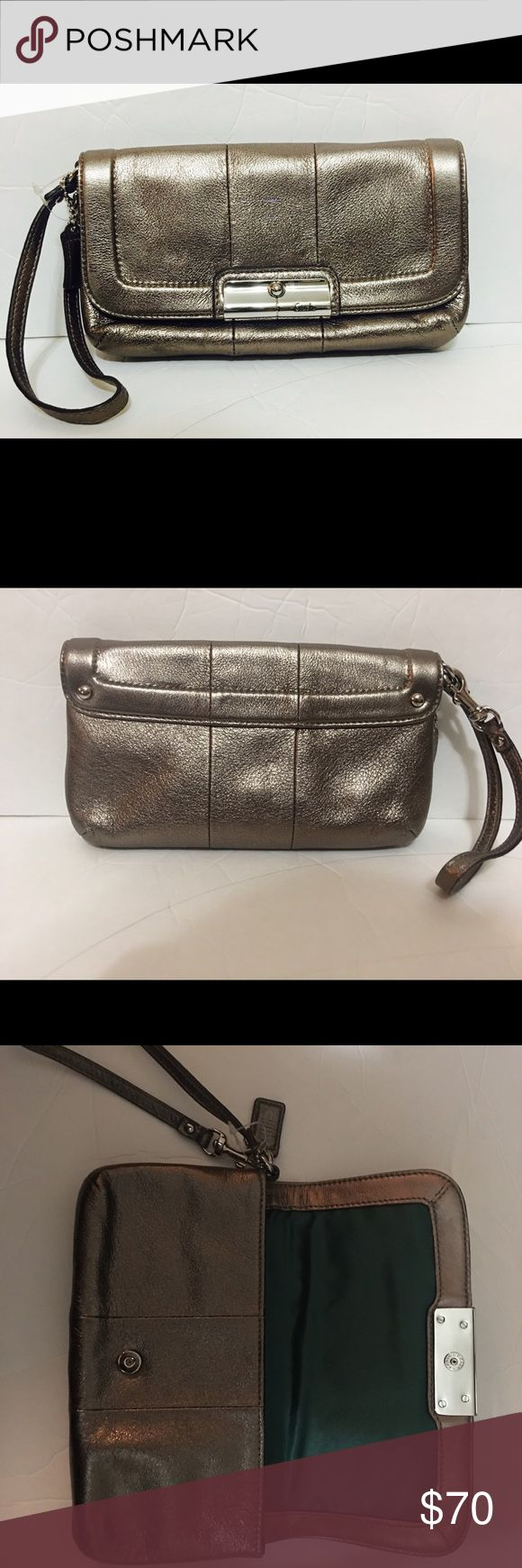 Coach Clutch Wristlet- Never Used Super cute for a night out or play it down for a day of shopping! Coach Bags Clutches & Wristlets