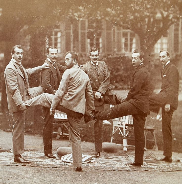 Nicholas II of Russia , Empress Alexandra , Grand Dukes Boris , Andrei and Kirill of Russia ,    Grand Duke Ernst and Gr...