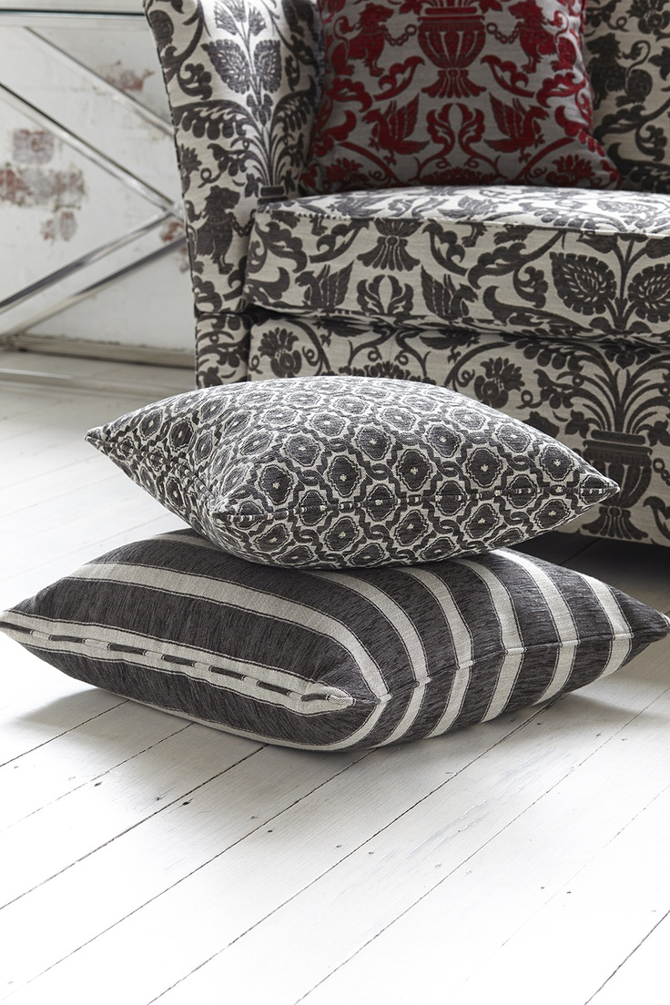 Sarafina Collection, Warwick Fabrics.  For more information about manufacturing cushions go to http://www.bqdesign.com.au/cushions