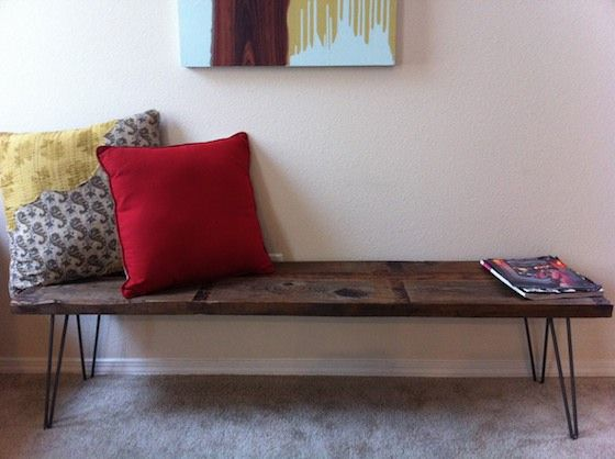 Another DIY Bench, hairpin legs and reclaimed wood