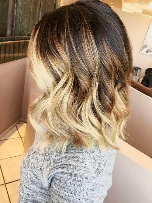 26.Blonde Ombre Short Hair
