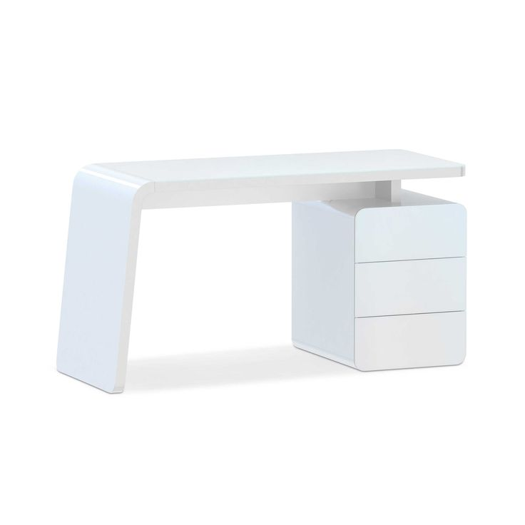 Schreibtisch CSL 440 Weiß Lack & Folie