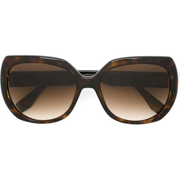 Fendi tortoise shell sunglasses (€295) ❤ liked on Polyvore featuring accessories, eyewear, sunglasses, brown, tortoise shell sunglasses, fendi glasses, oversized tortoise sunglasses, gradient lens sunglasses and acetate glasses