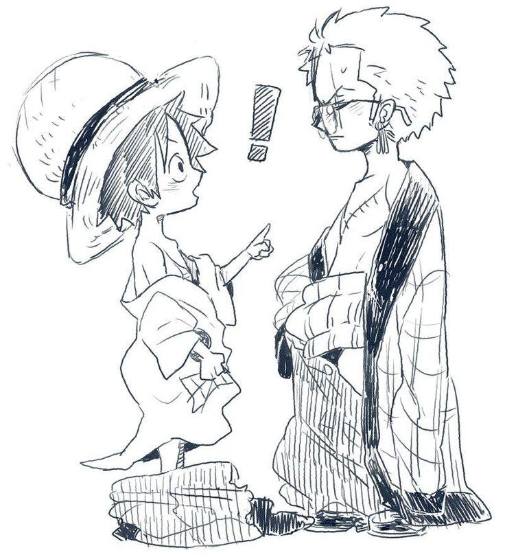 Luffy and Zoro √