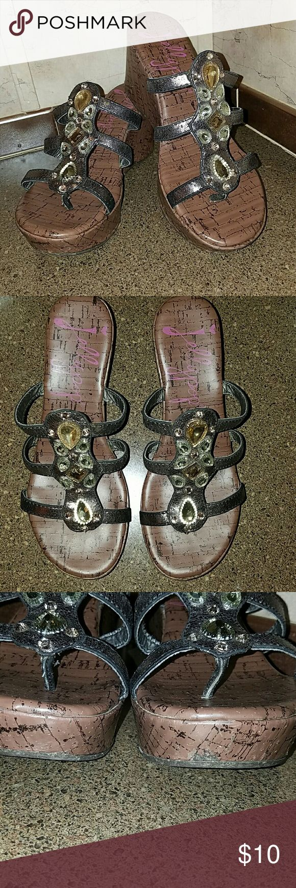 Jellypop Sandals These are size 8. Good used condition but do have minor peeling in places shown in pictures. Jellypop Shoes Sandals