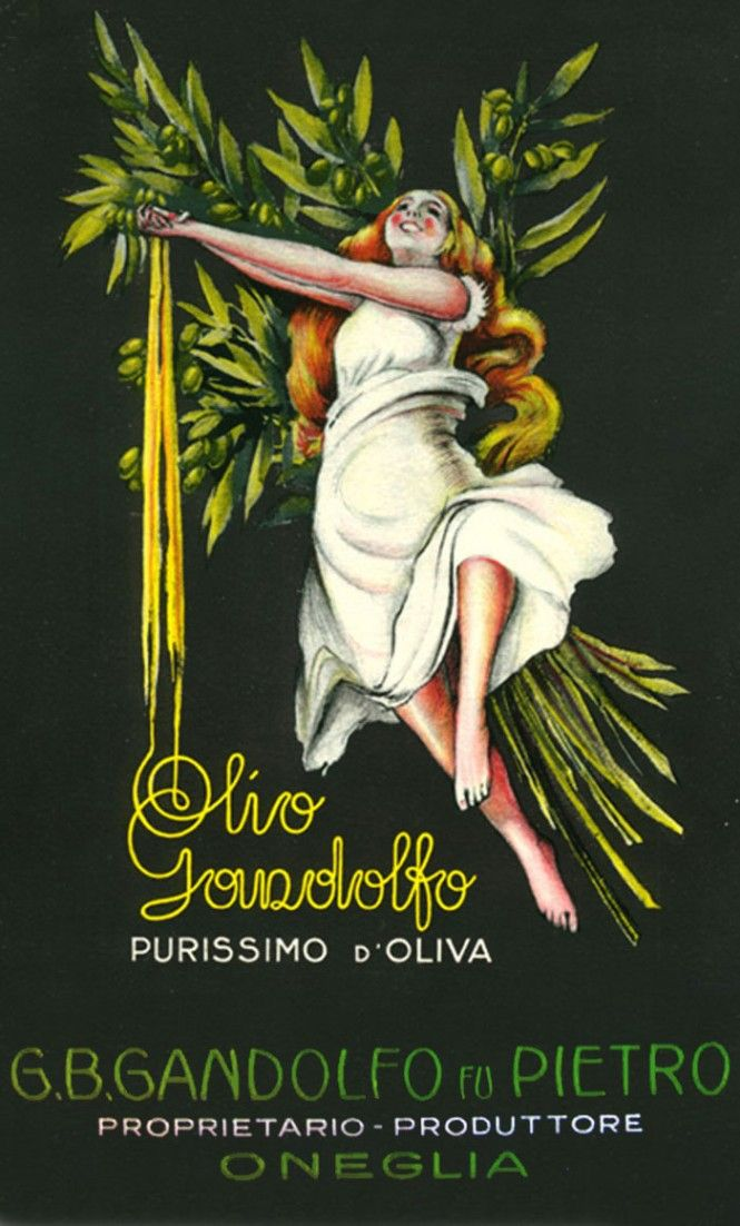 Poster advertisements for Oneglia oil. www.italianways.com/poster-advertisements-for-oneglia-oil/ #italianways #design #advertising