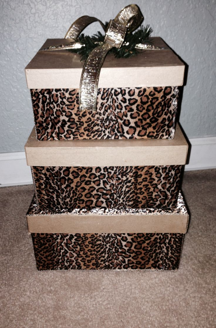 Cheetah print wedding card box BNB Event Rentals