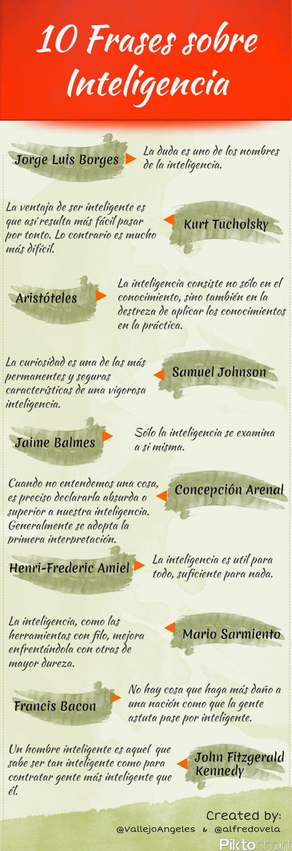 10 citas célebres sobre inteligencia #infografia #infographic #citas #quotes