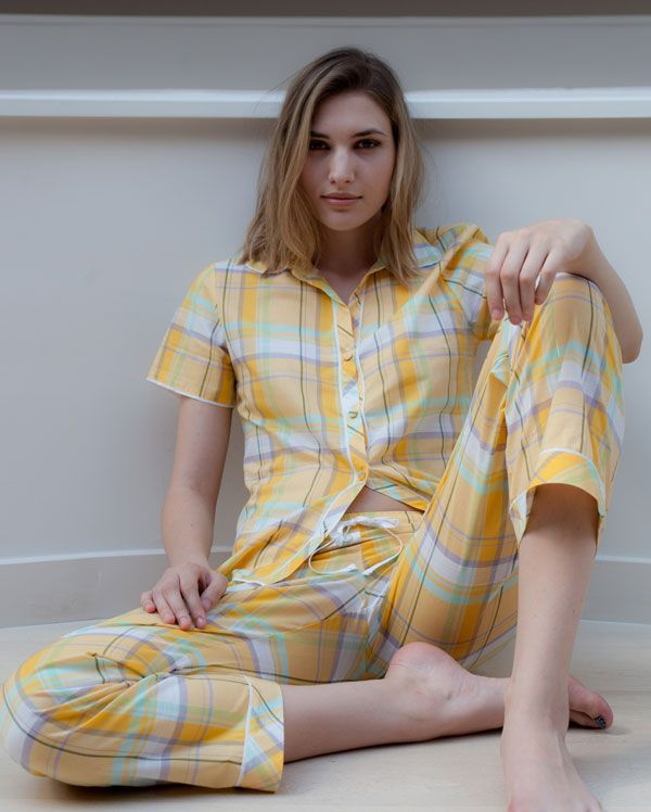 Let the Summer begin with these gorgeous Beetrix Check Pyjamas by Cyberjammies £43.50 Pajamas