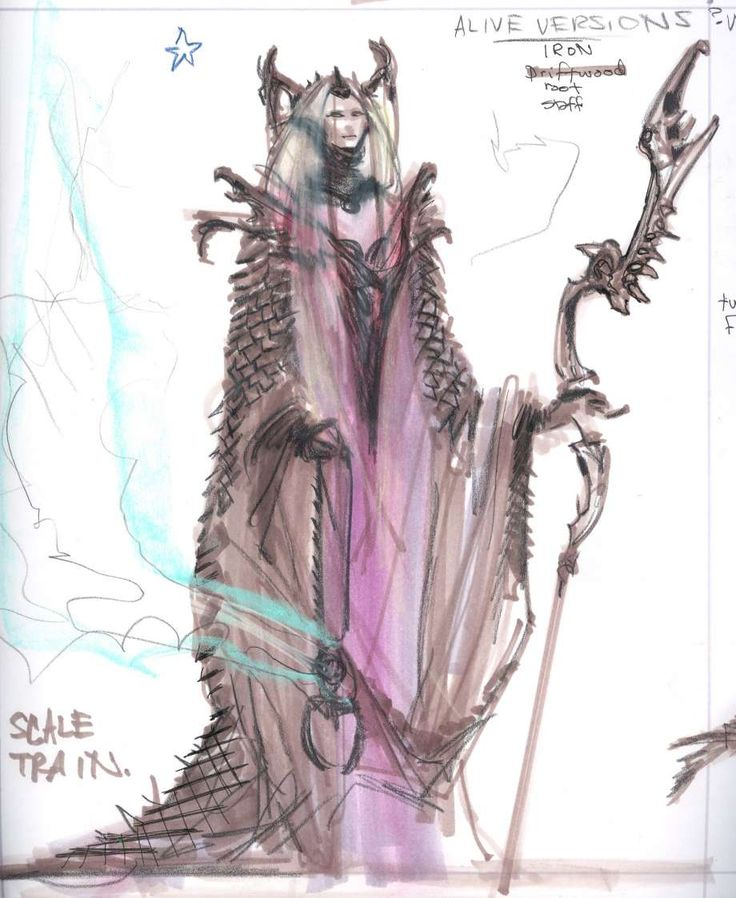 Dragon Priest concept art from The Elder Scrolls V: Skyrim by Adam Adamowicz