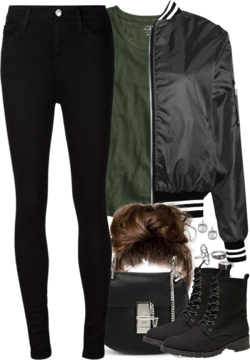 Slytherin Inspired Soccer Game Outfit by hpstyle featuring military boots
