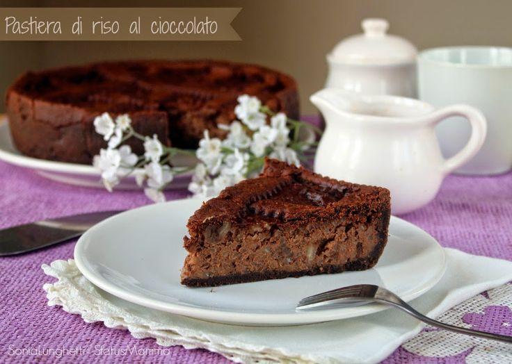 Pastiera di riso al cioccolato