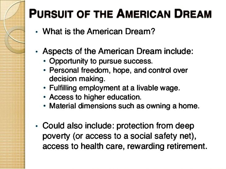 an essay about the faces of diamond and the pursuit of the american dream Database of free history essays the american dream came about during the united states declaration of independence where it was meant to be a land of freedom.
